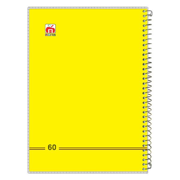 دفتر 60 برگ سیمی طلقی زرد تکرنگ