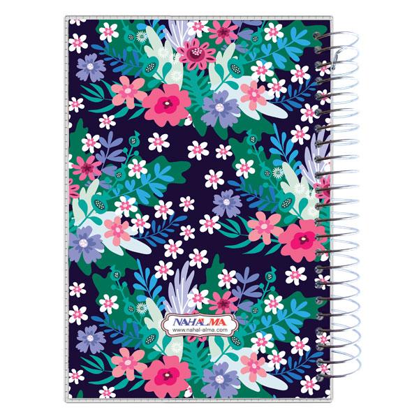 دفتر یادداشت سیمی طلقی گل گلی